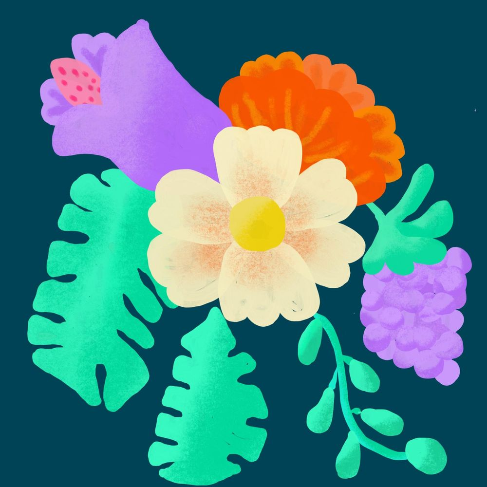 Tropical Flower and Grape - image 1 - student project