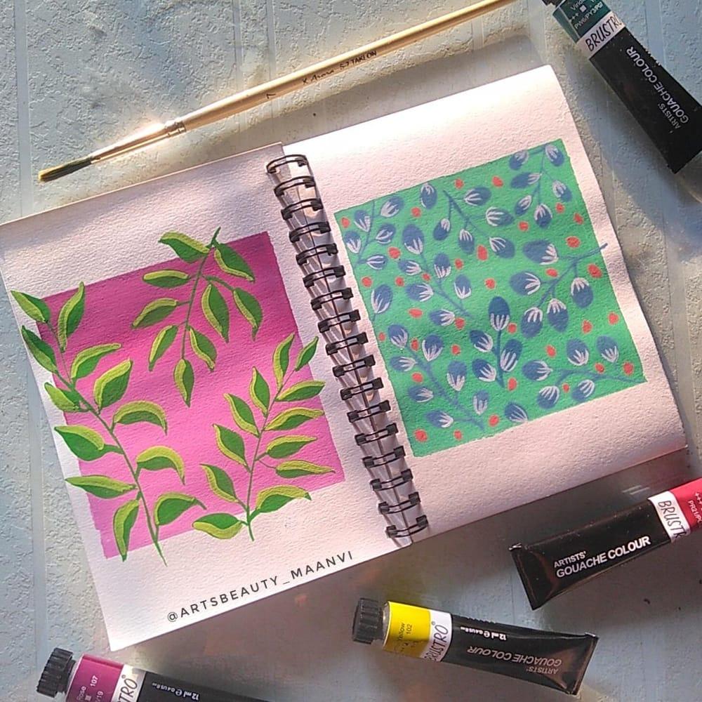 gouache patterns - image 4 - student project