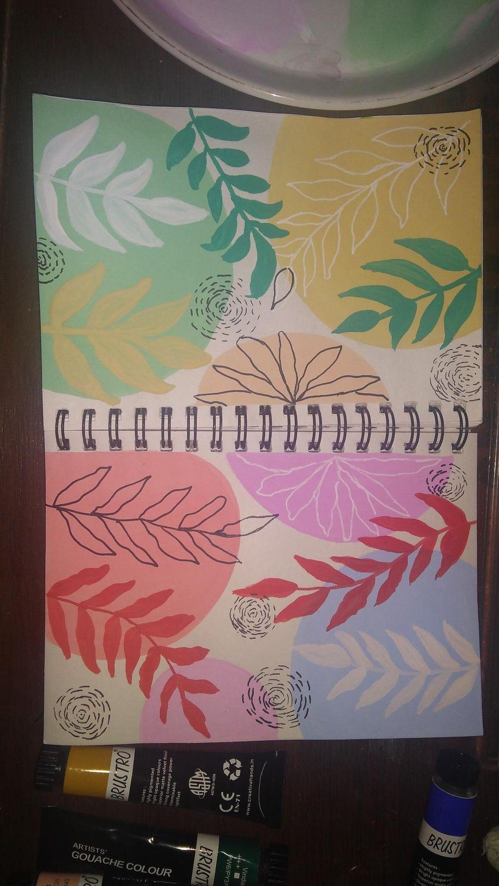 gouache patterns - image 2 - student project
