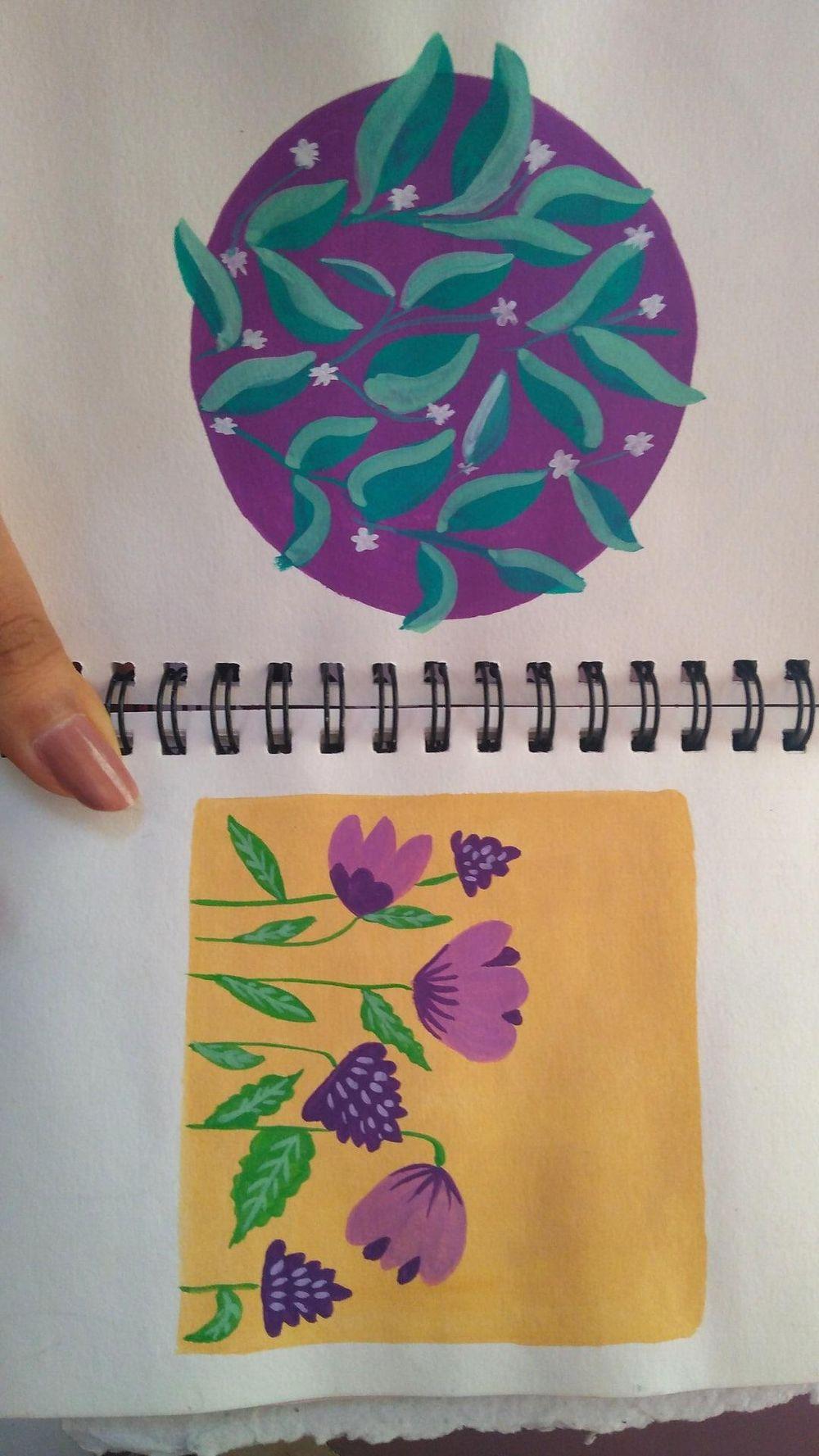 gouache patterns - image 1 - student project