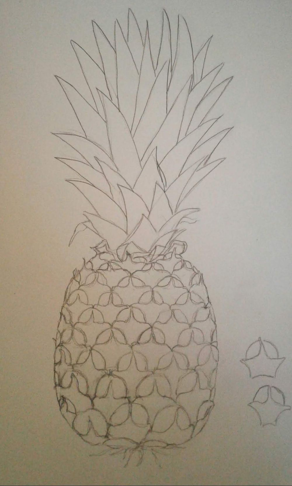 Pineapple Painting, and cake. - image 2 - student project