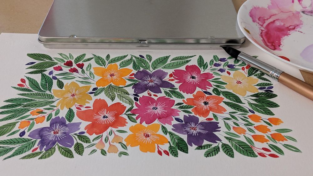 Loose florals - image 2 - student project