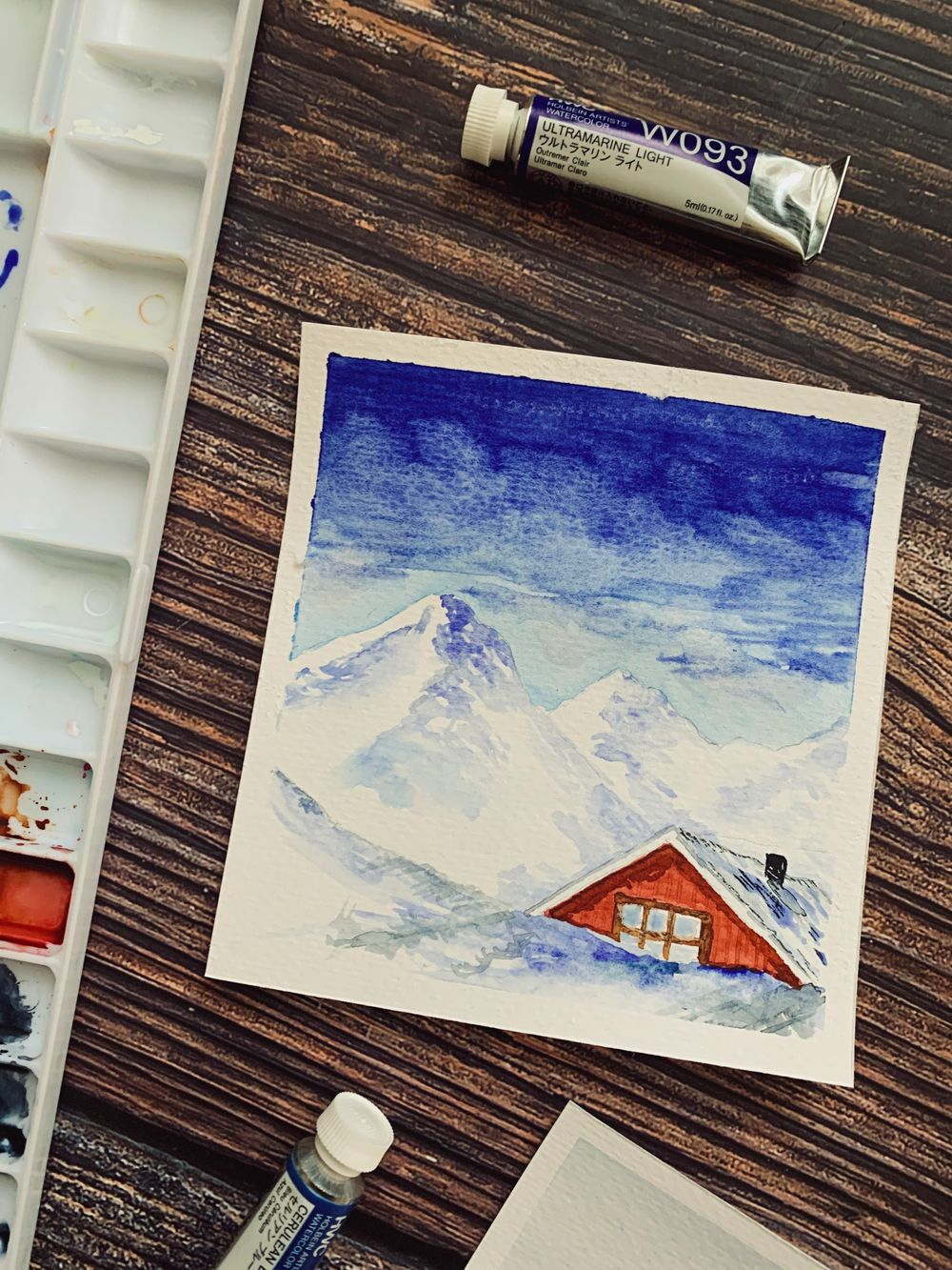 Fun Snowy Watercolor Paintings - image 1 - student project