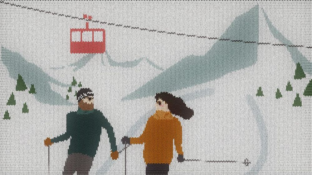 Christmas on skis - image 2 - student project