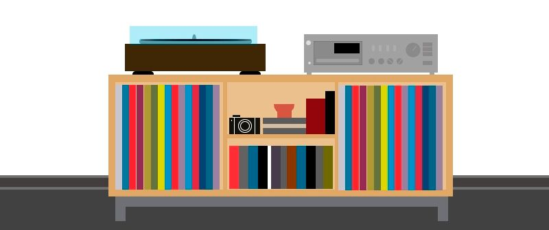 Simple Vinyl Shelf. - image 1 - student project
