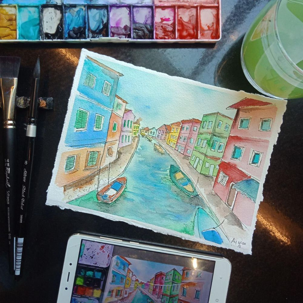Urban Sketching - image 1 - student project