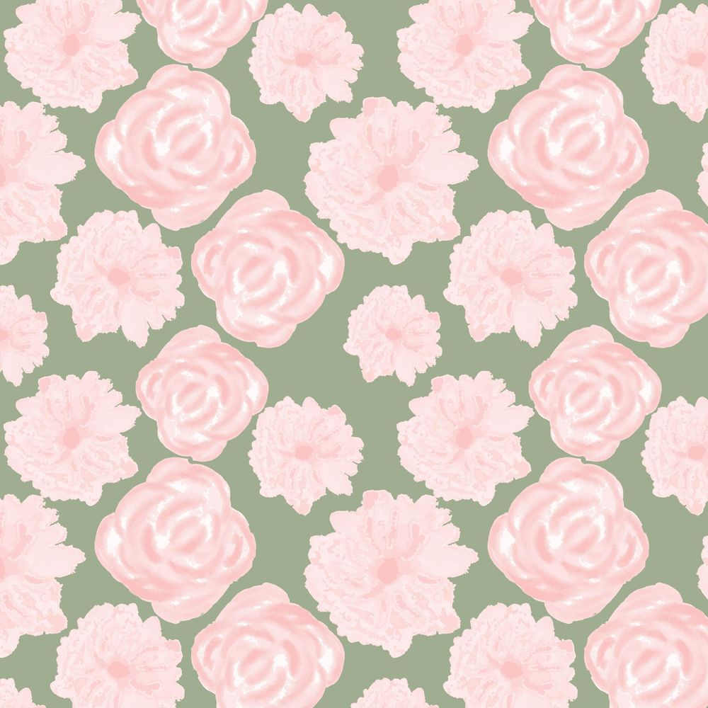 Watercolor Flower Pattern - image 8 - student project