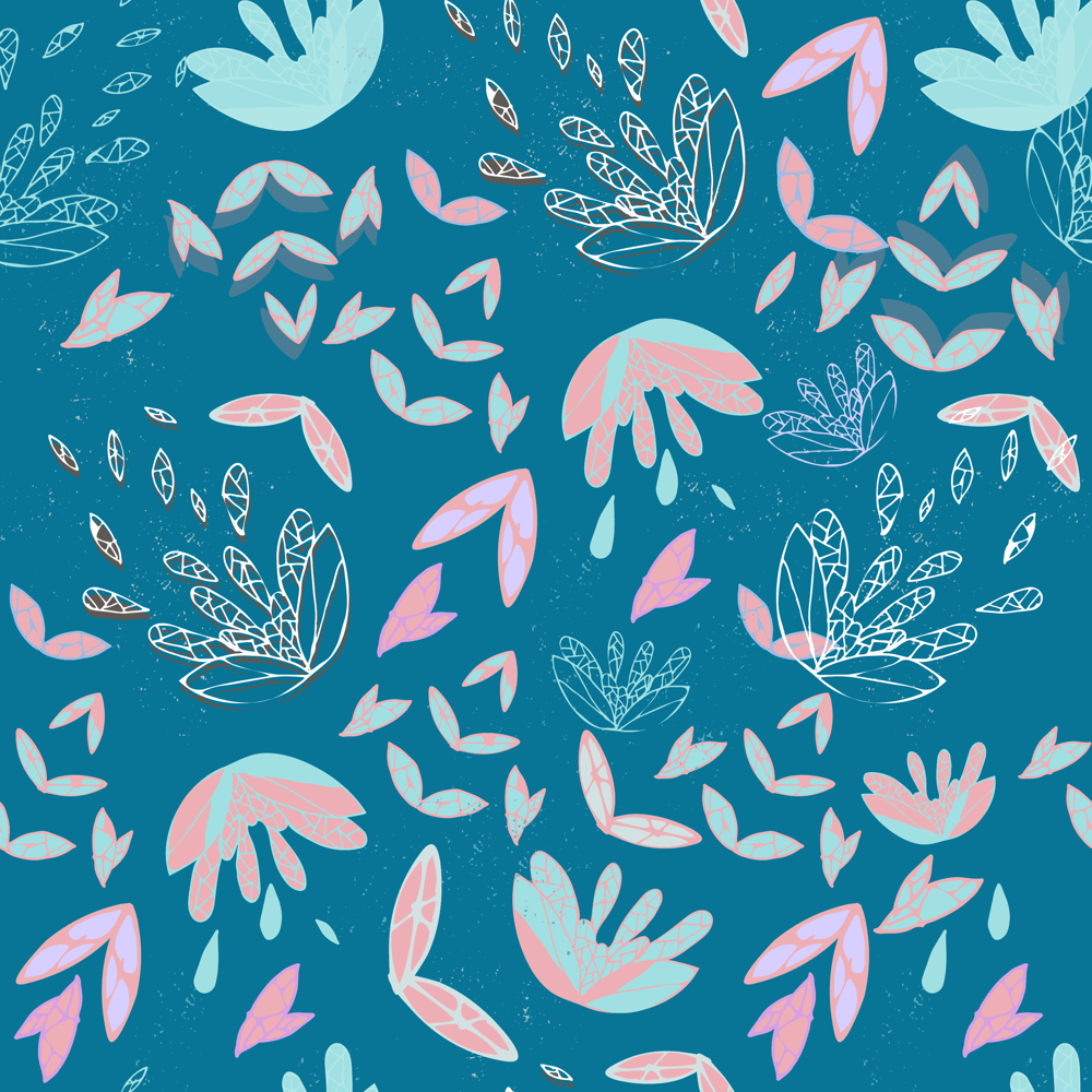 Lotus Half Drop Pattern - image 1 - student project