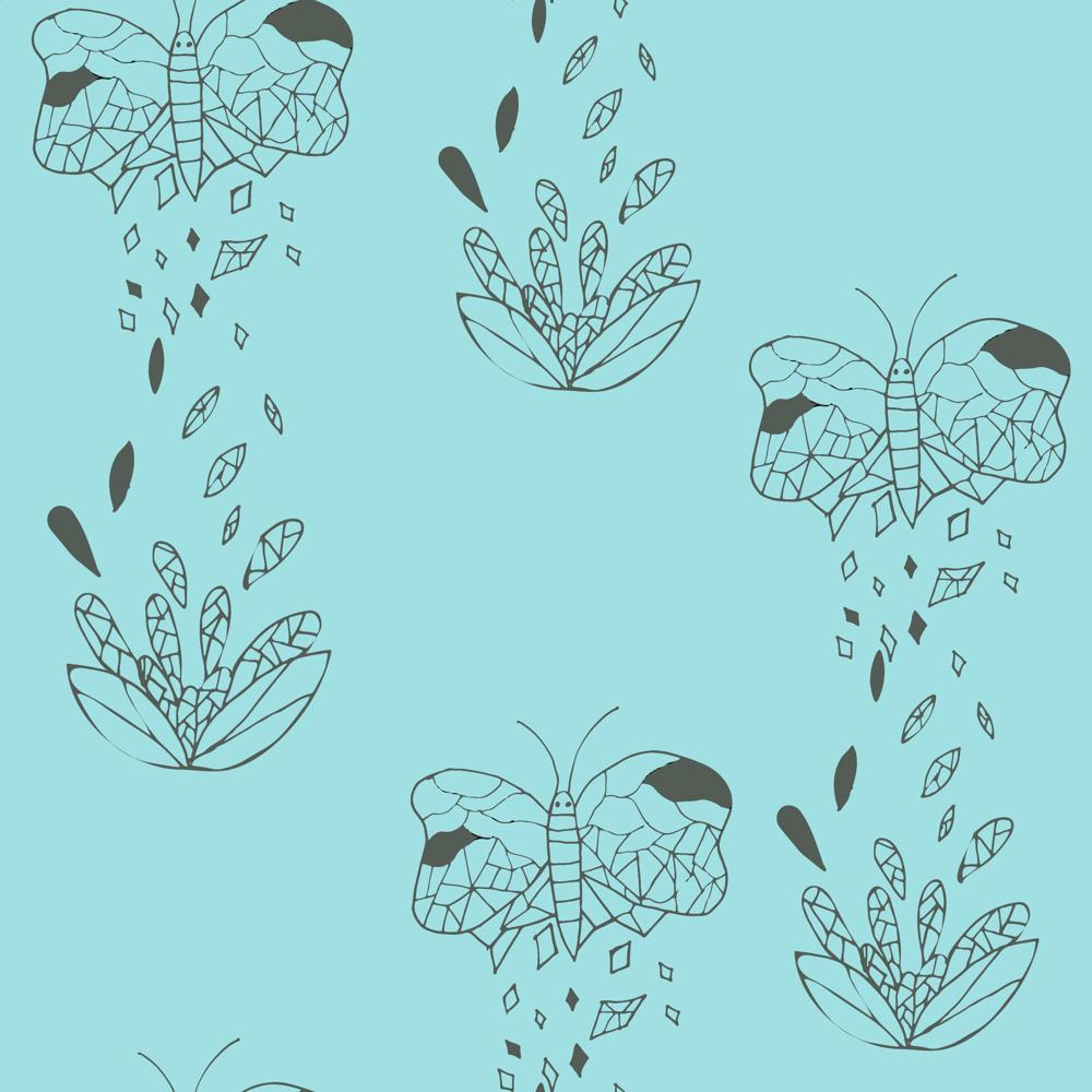 Lotus Half Drop Pattern - image 2 - student project