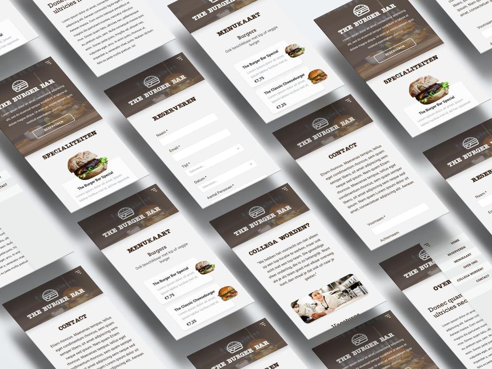 Burger Bar Website - image 3 - student project