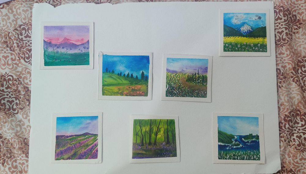 30day watercolor challenge: Let's Celebrate world watercolor Month - image 1 - student project