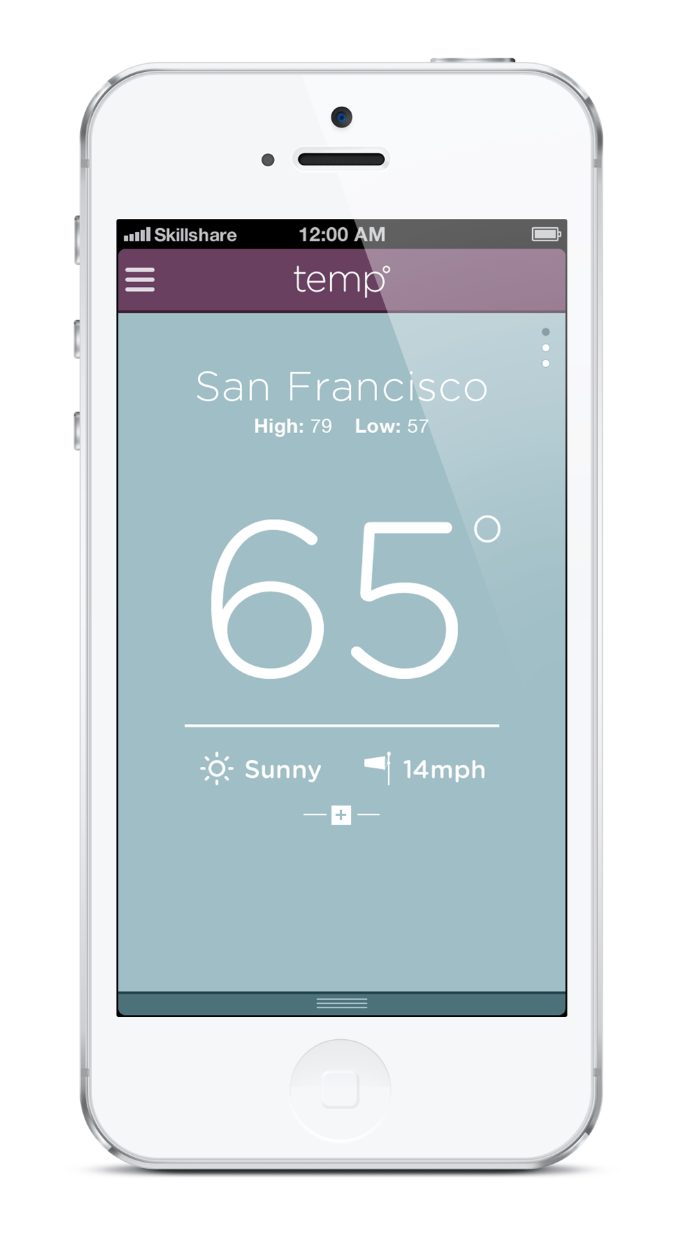 temp weather app - image 2 - student project