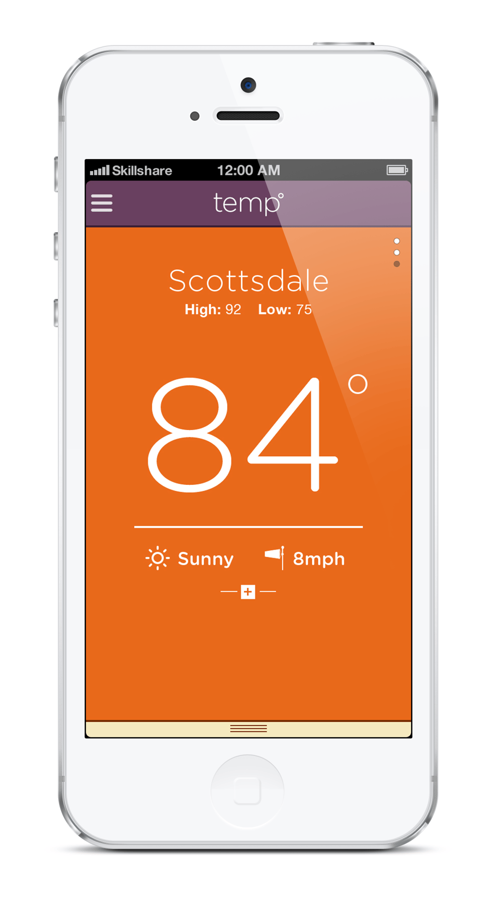 temp weather app - image 5 - student project
