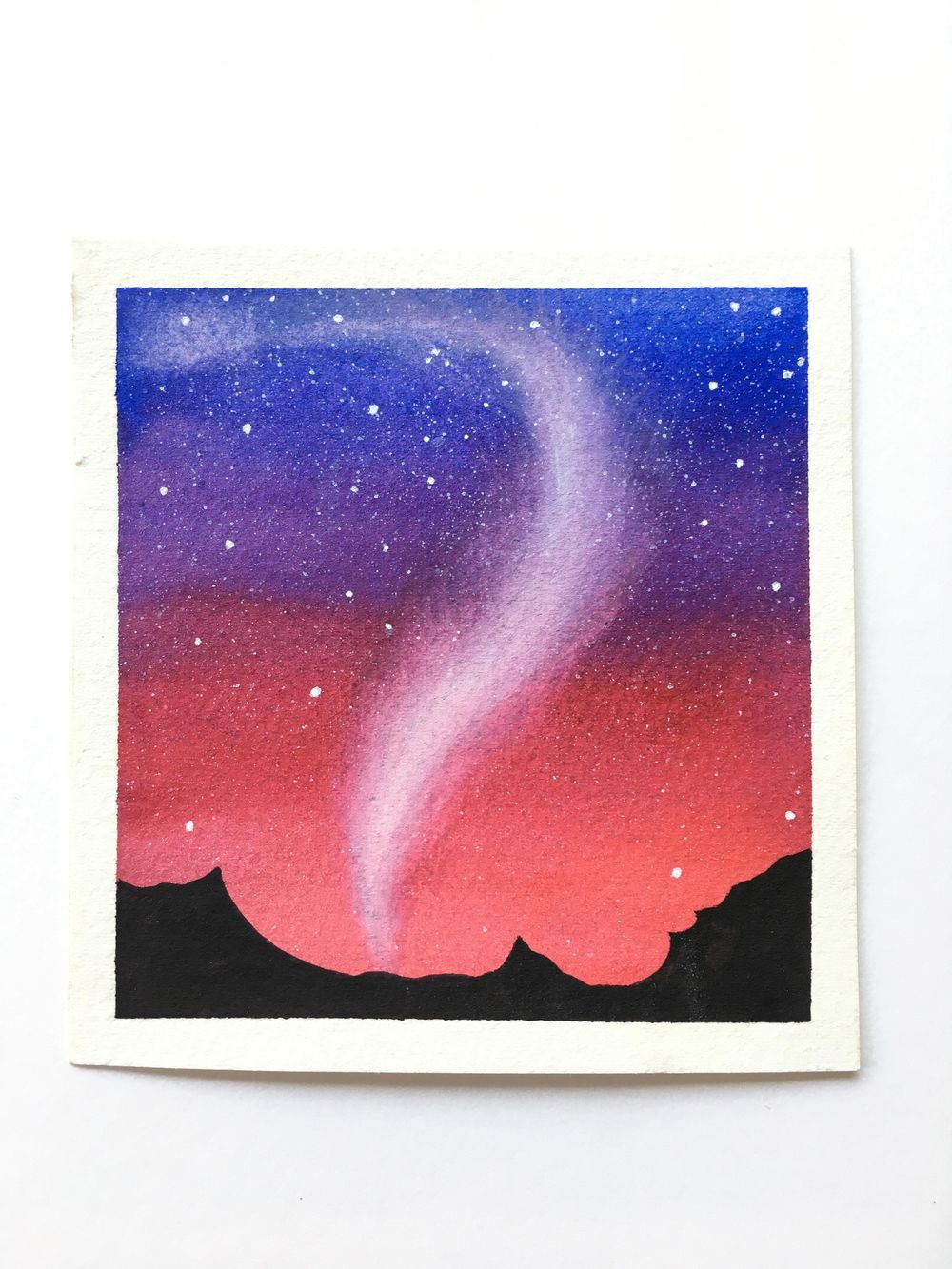 Northen lights in Watercolor ! - image 1 - student project