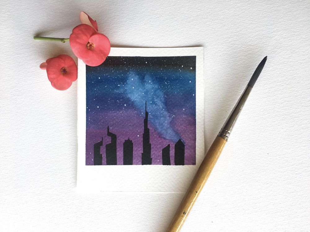 Fun and Easy Watercolour Galaxies - image 3 - student project