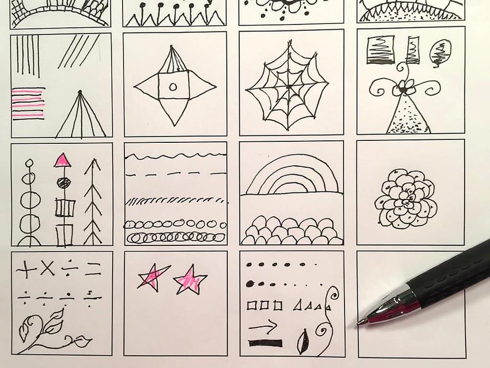 Teacher worksheet and final mandalas - image 1 - student project