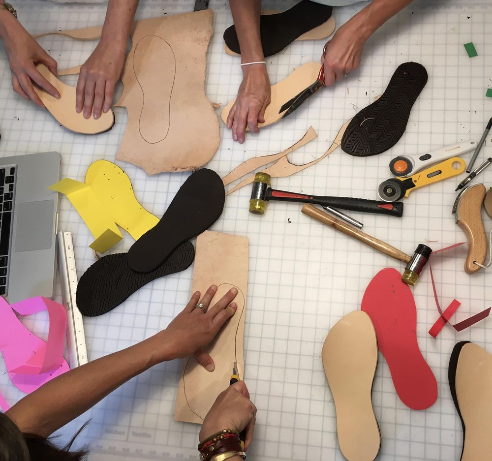 Sandal making with friends - image 3 - student project