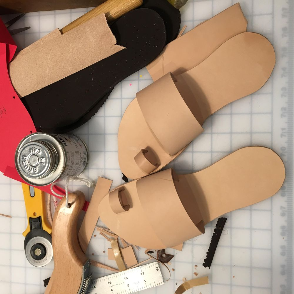Sandal making with friends - image 1 - student project