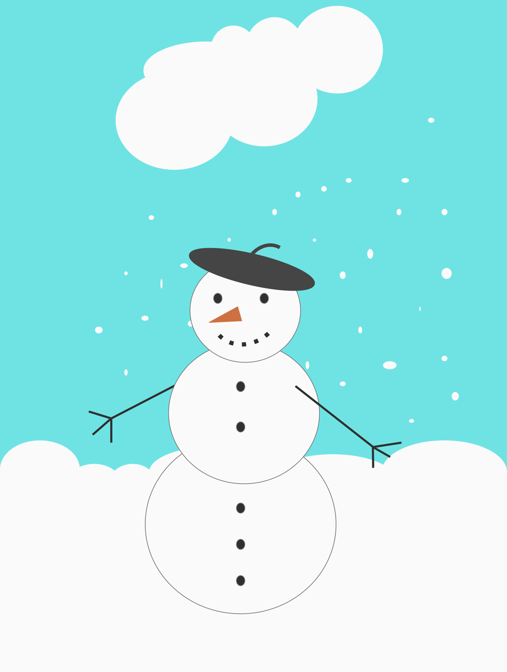 Just another snowman - image 1 - student project
