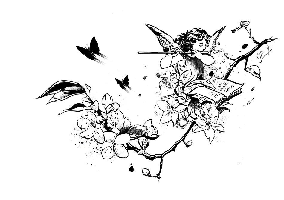 Windy butterflies or Angel's music - image 2 - student project