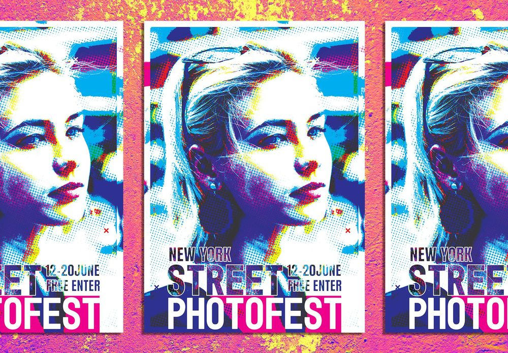 Abstract bright festival layout with pretty girl - image 2 - student project