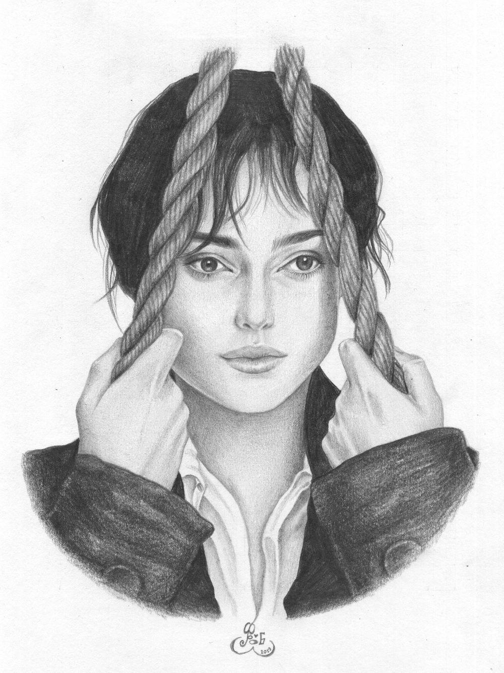 Portrait: Keira Knightley as Elizabeth Bennet - image 5 - student project