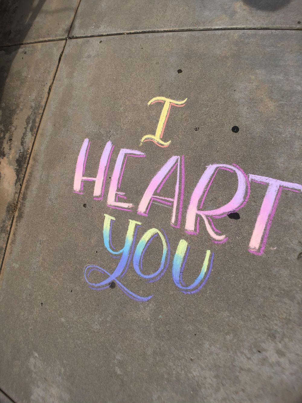 Sidewalk chalk - image 1 - student project