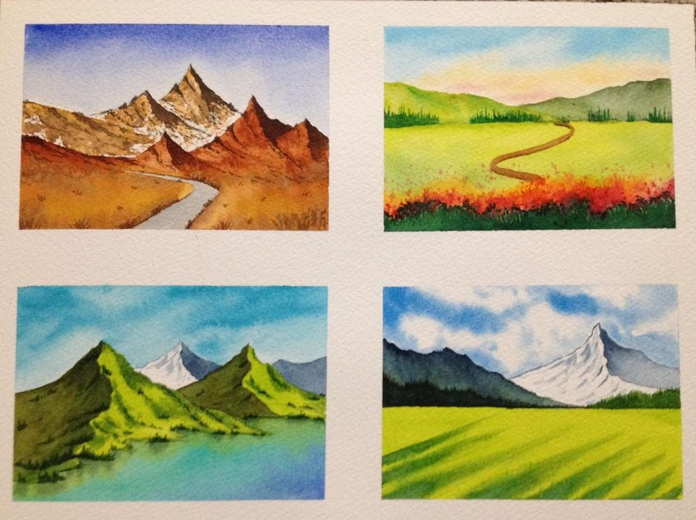 Watercolor Masterclass Landscapes - image 5 - student project
