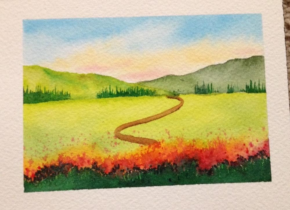 Watercolor Masterclass Landscapes - image 2 - student project