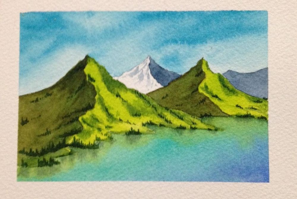 Watercolor Masterclass Landscapes - image 3 - student project
