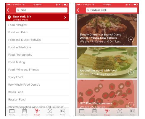 Heuristic evaluation: Meetup's iPhone app - image 2 - student project