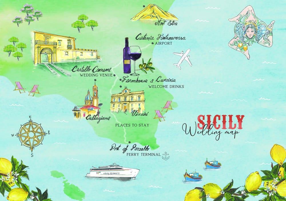 Sicilian Wedding Map - image 27 - student project