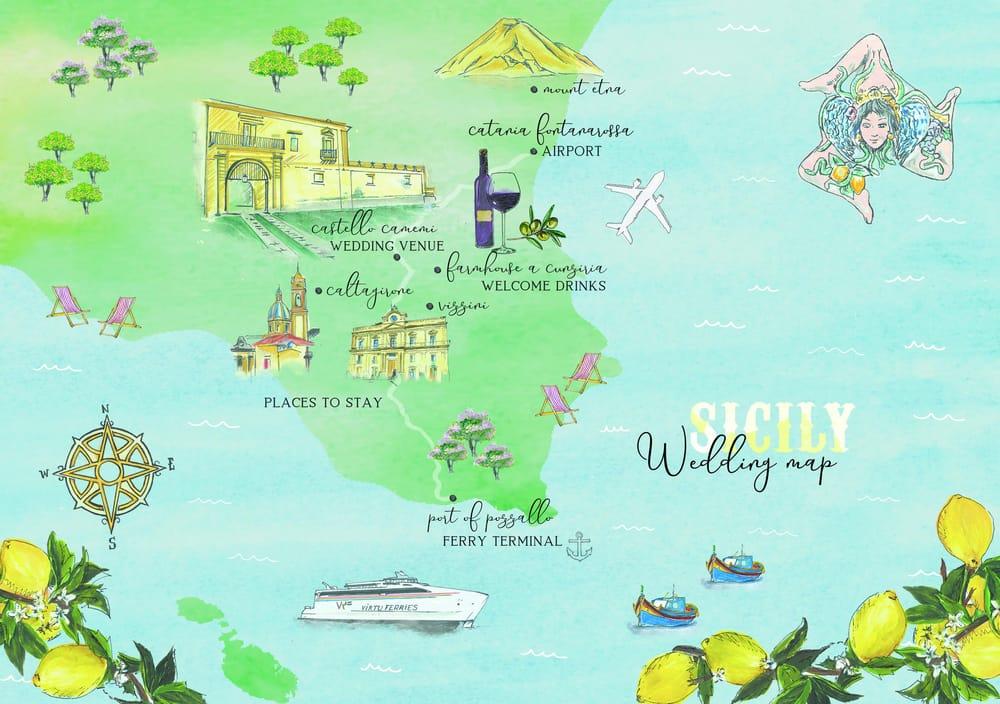 Sicilian Wedding Map - image 28 - student project