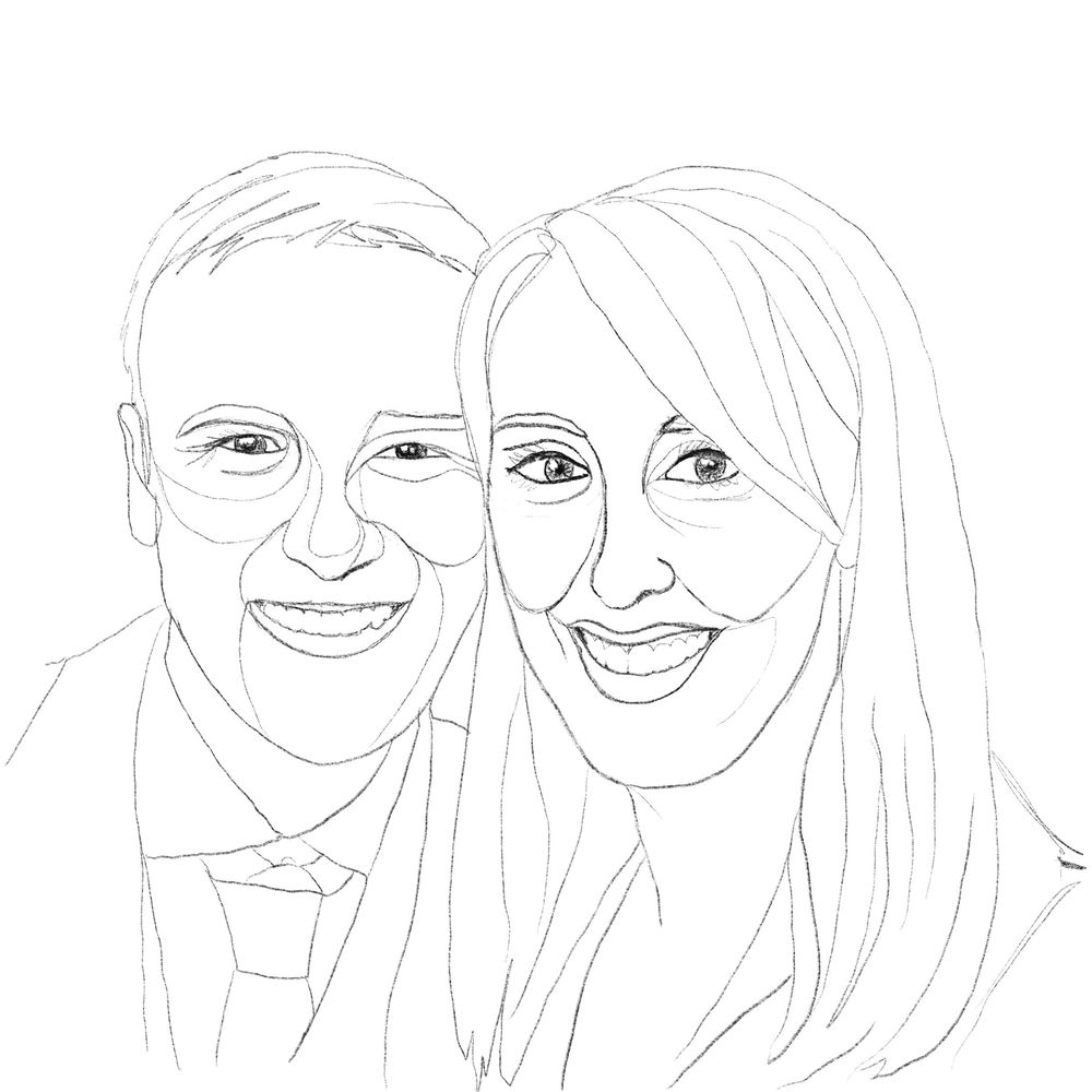 One Line (ish) Family Portraits - image 3 - student project