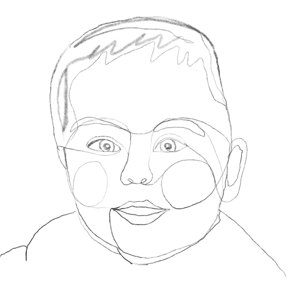 One Line (ish) Family Portraits - image 1 - student project