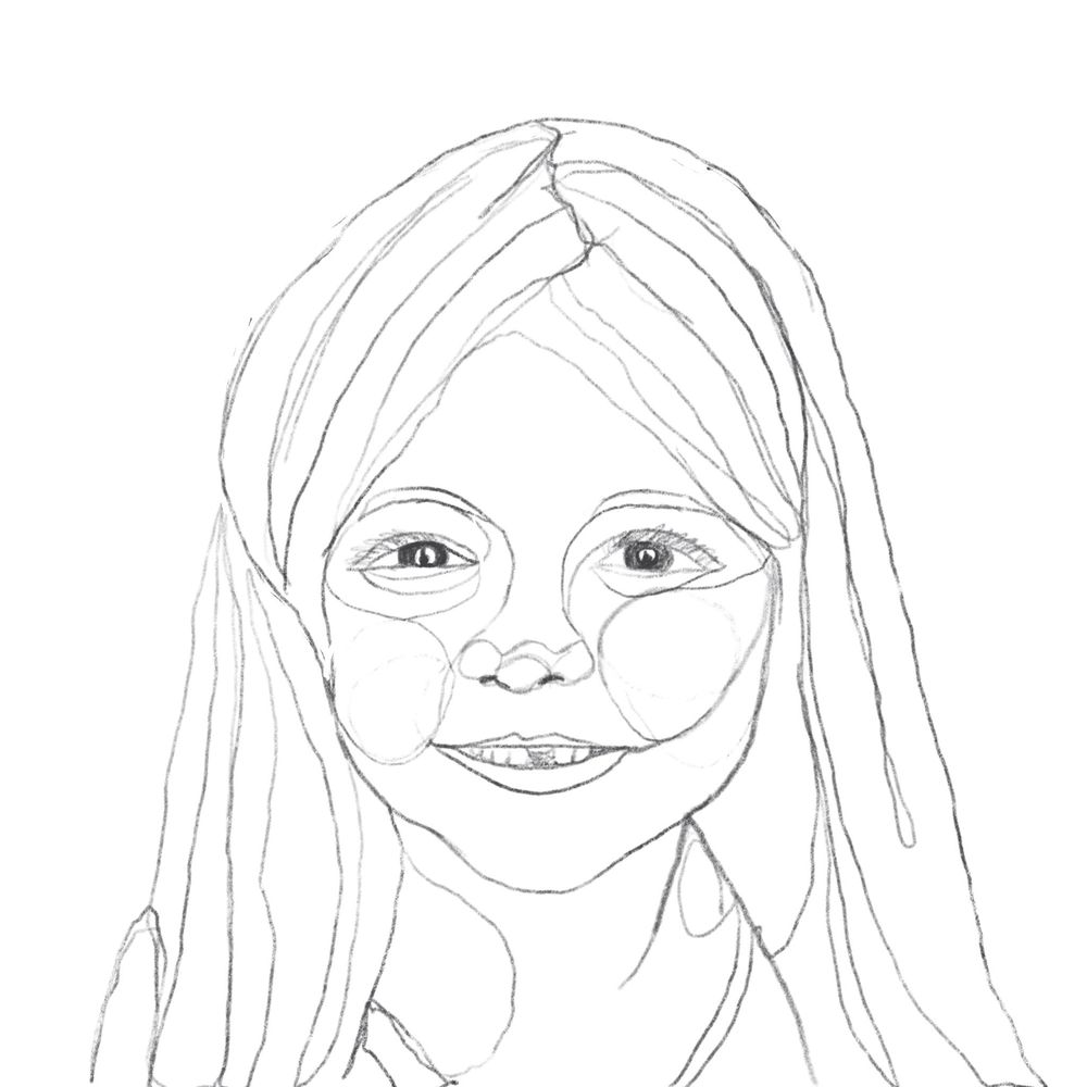One Line (ish) Family Portraits - image 2 - student project
