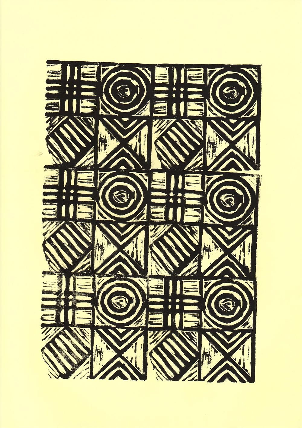 Geometric Linocut Patterns - image 10 - student project