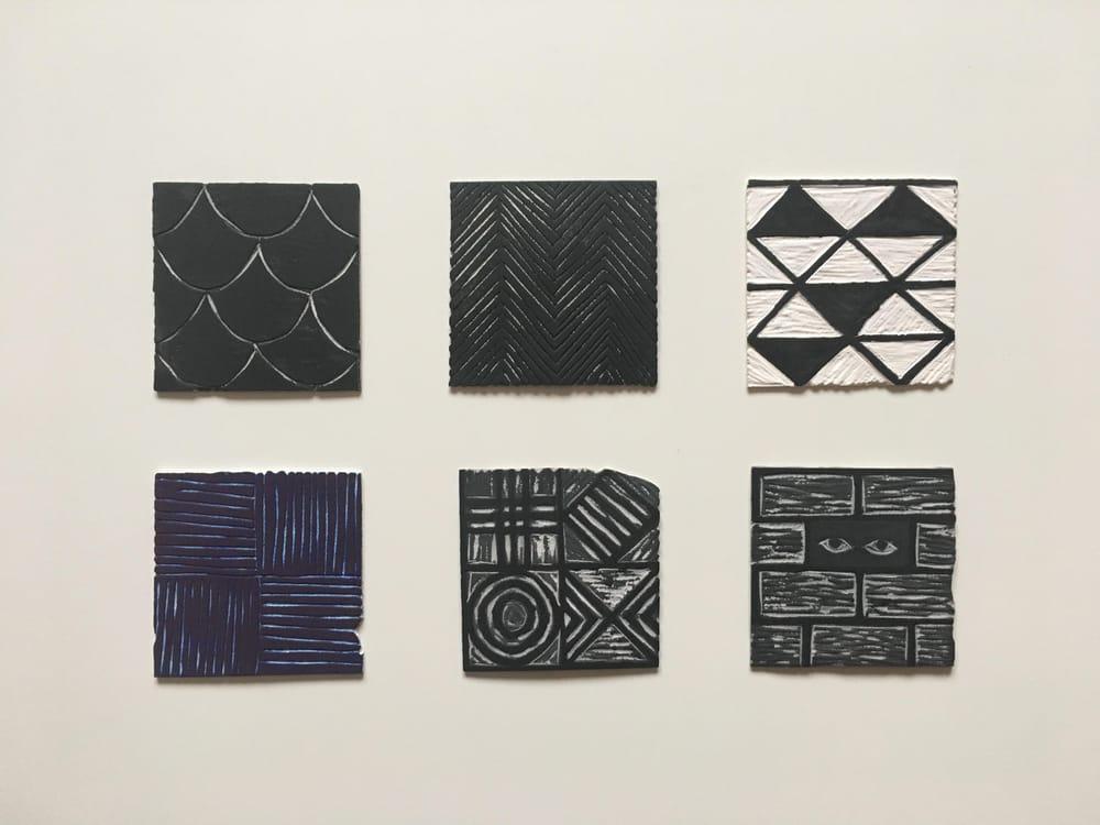 Geometric Linocut Patterns - image 5 - student project