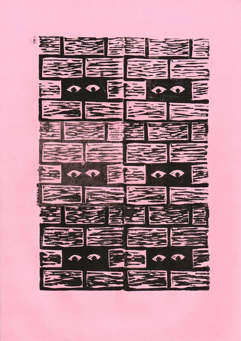 Geometric Linocut Patterns - image 11 - student project