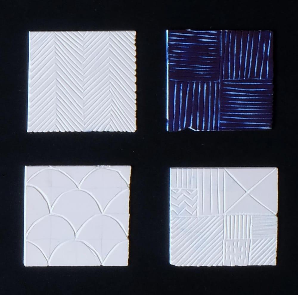 Geometric Linocut Patterns - image 2 - student project