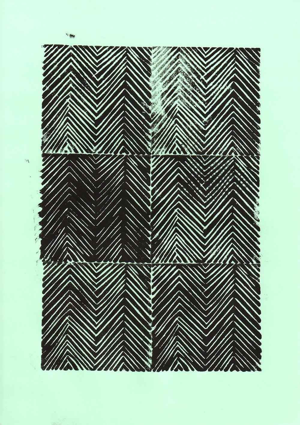 Geometric Linocut Patterns - image 9 - student project