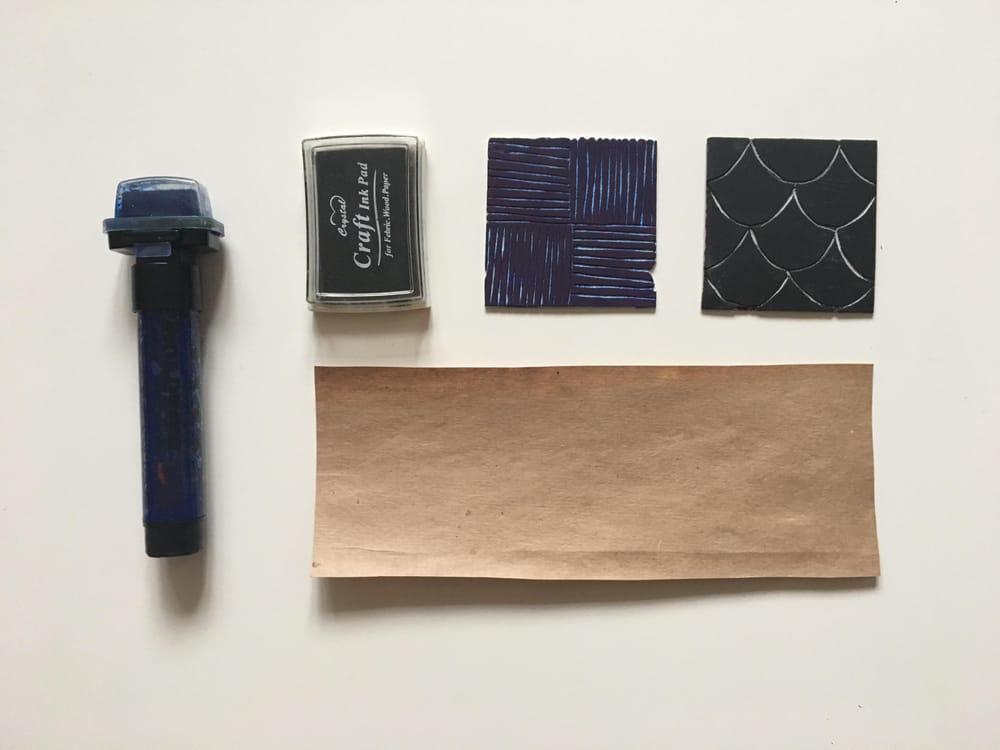 Geometric Linocut Patterns - image 3 - student project