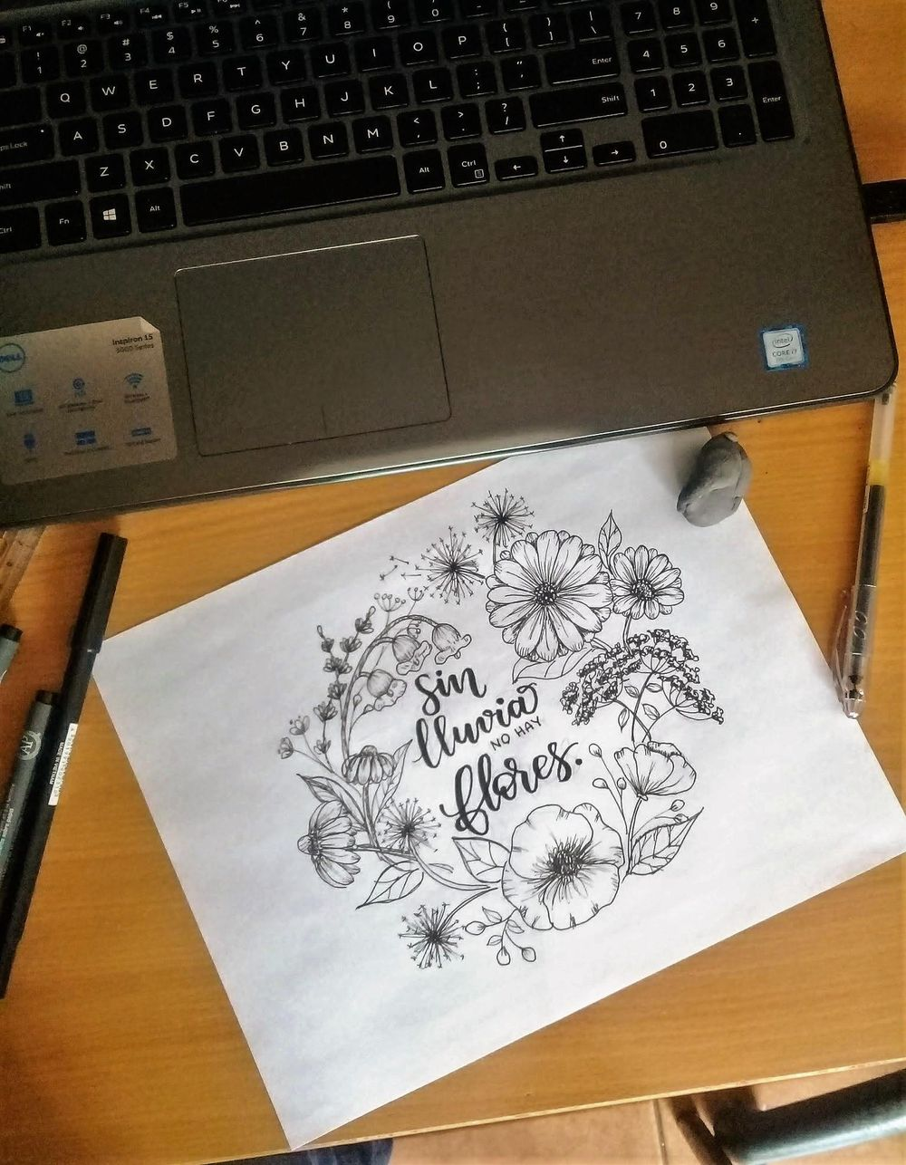 inked Wild Flowers - image 2 - student project