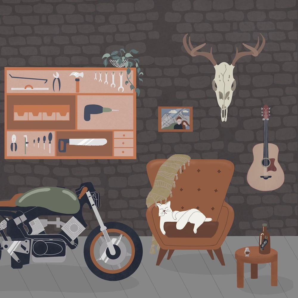 Garage(sort of) with a cat - image 2 - student project
