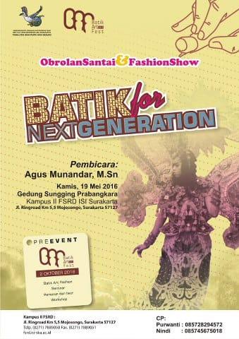 Batik Event Poster - image 1 - student project