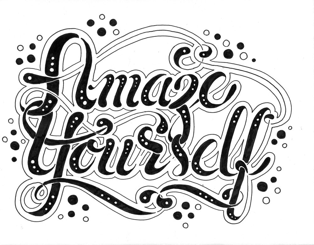 Hand Lettering Steps and Version Ideas - image 7 - student project