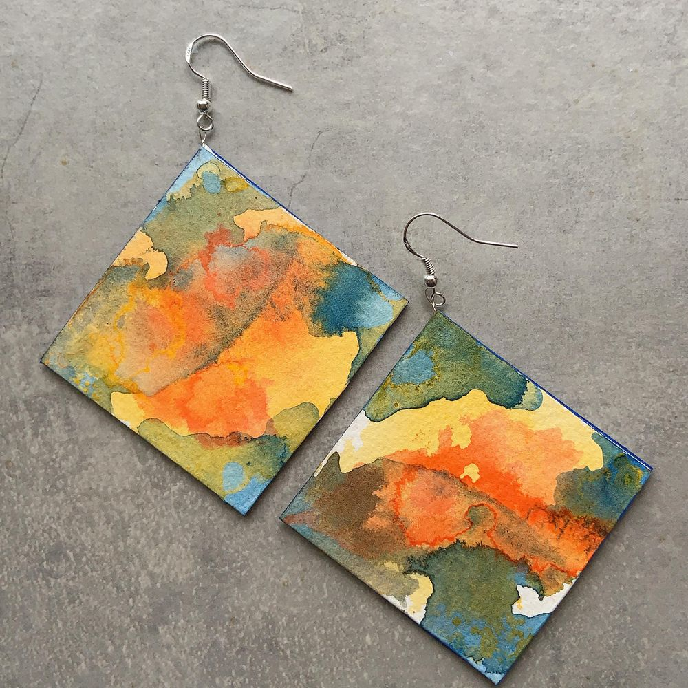 Colorful Earrings - image 1 - student project