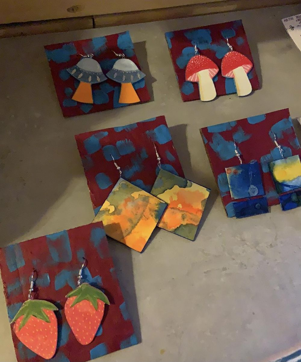 Colorful Earrings - image 2 - student project