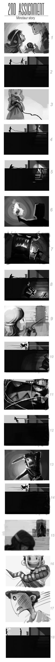 Minotaur Sequence (2nd Task) & The Winged Thief(1st Task) - image 1 - student project