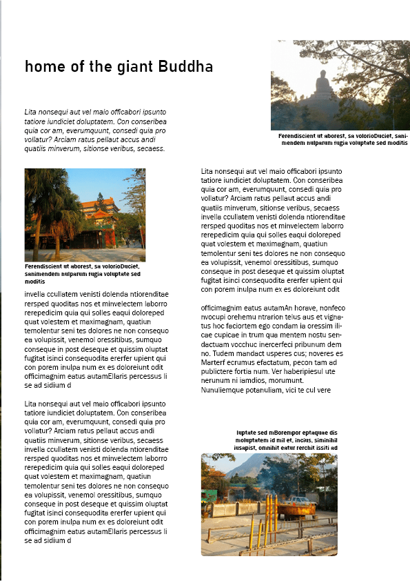 First time using InDesign - image 2 - student project